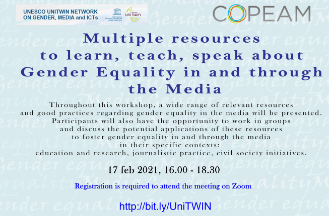 Collegamento a Multiple resources to learn, teach, speak about Gender Equality in and through the Media